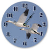 Snow Goose Birds Hanging Wall Clock