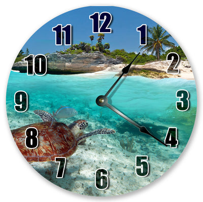 Sea Turtle Beach Handmade Hanging Wall Clock