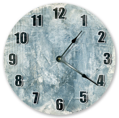 Blue White Texture Home Decor Hanging Wall Clock