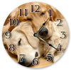 Two Golden Reteieves Handmade Hanging Wall Clock