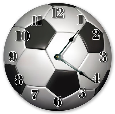 Black And White Soccer Ball Hanging Wall Clock