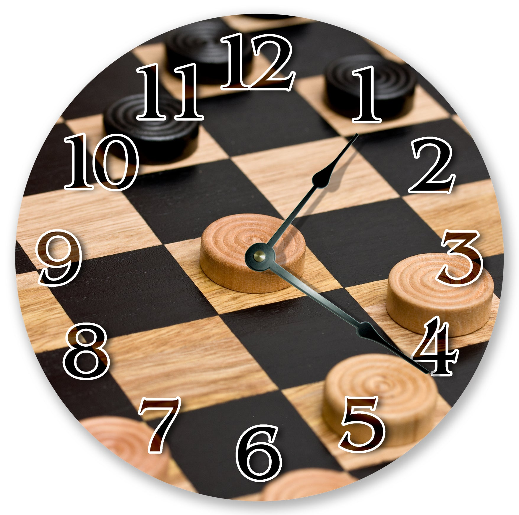 Checkers Game Board Home Decor Hanging Wall Clock