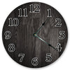 All Black Charcoal Wood Hanging Wall Clock