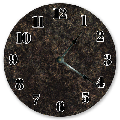 Black Marble Pattern Home Decor Handmade Hanging Wall Clock