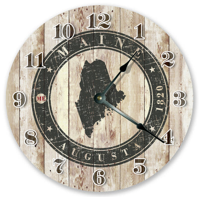August Me Stamp Home Decor Hand Made Wall Clock