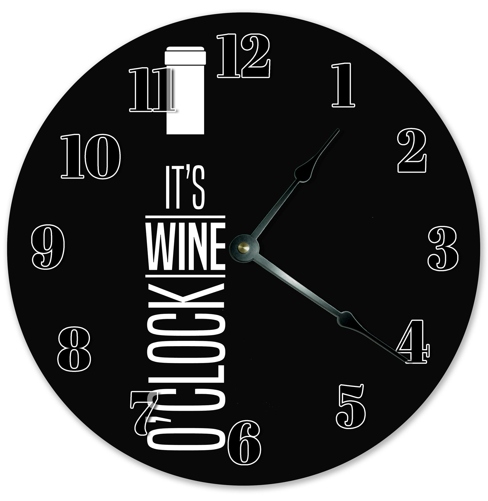 Wine Lovers Handmade Hanging Wall Clock
