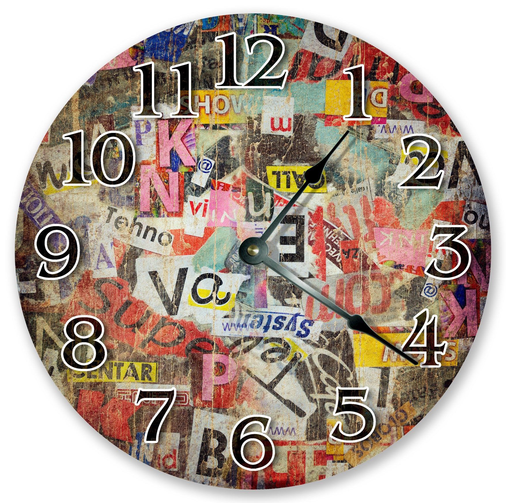 Abstracts Letter Art Wall Clock