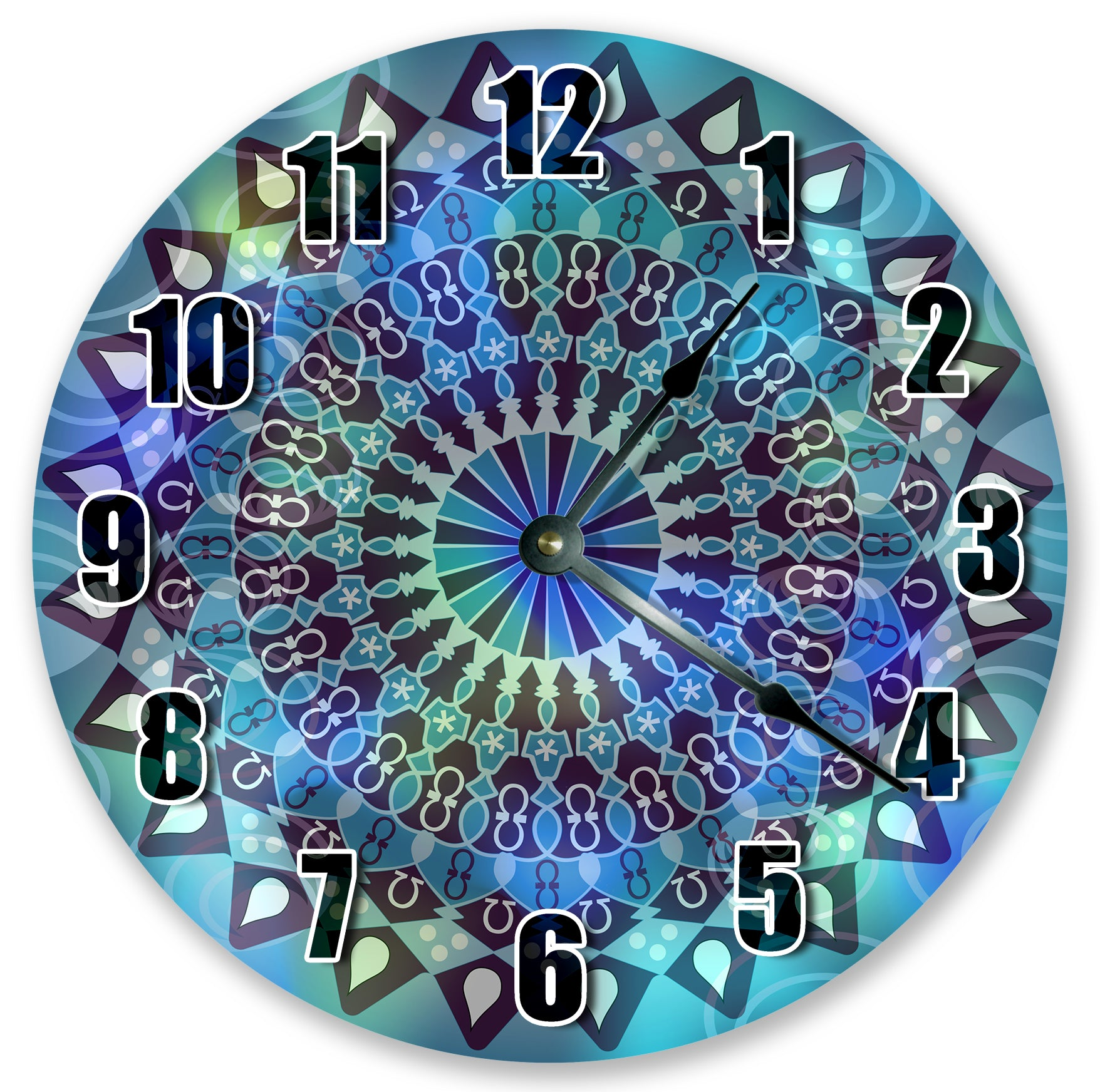 Abstract Tie Dye Wall Clock