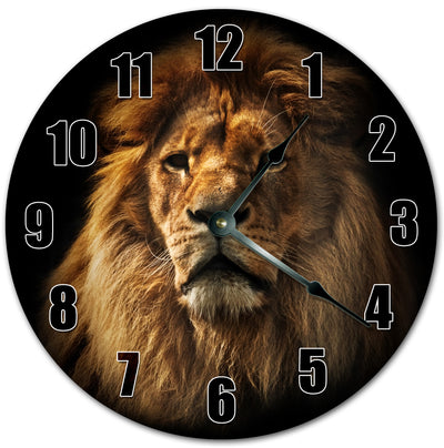 Mighty Lion King Portrait Handmade Hanging Wall Clock