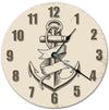 Pencil Drawing Anchor Art Hanging Wall Clock