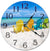 Wooden Beach Decor Chairs Hanging Wall Clock