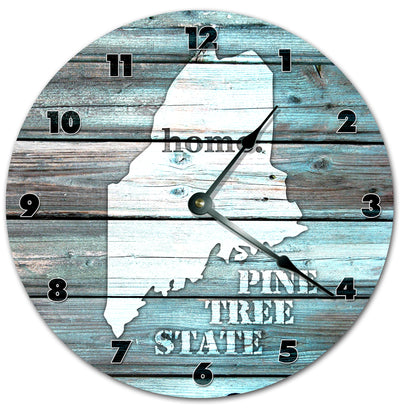 Alabama Teal Rustic Look Home Decor Wall Clock