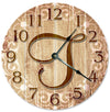 Monogram Handmade Wall Clocks - Letters A to Z