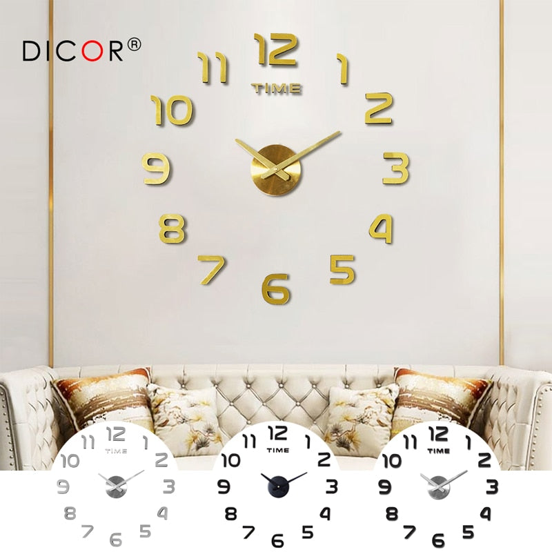 DIY Large Sticker Wall Clock