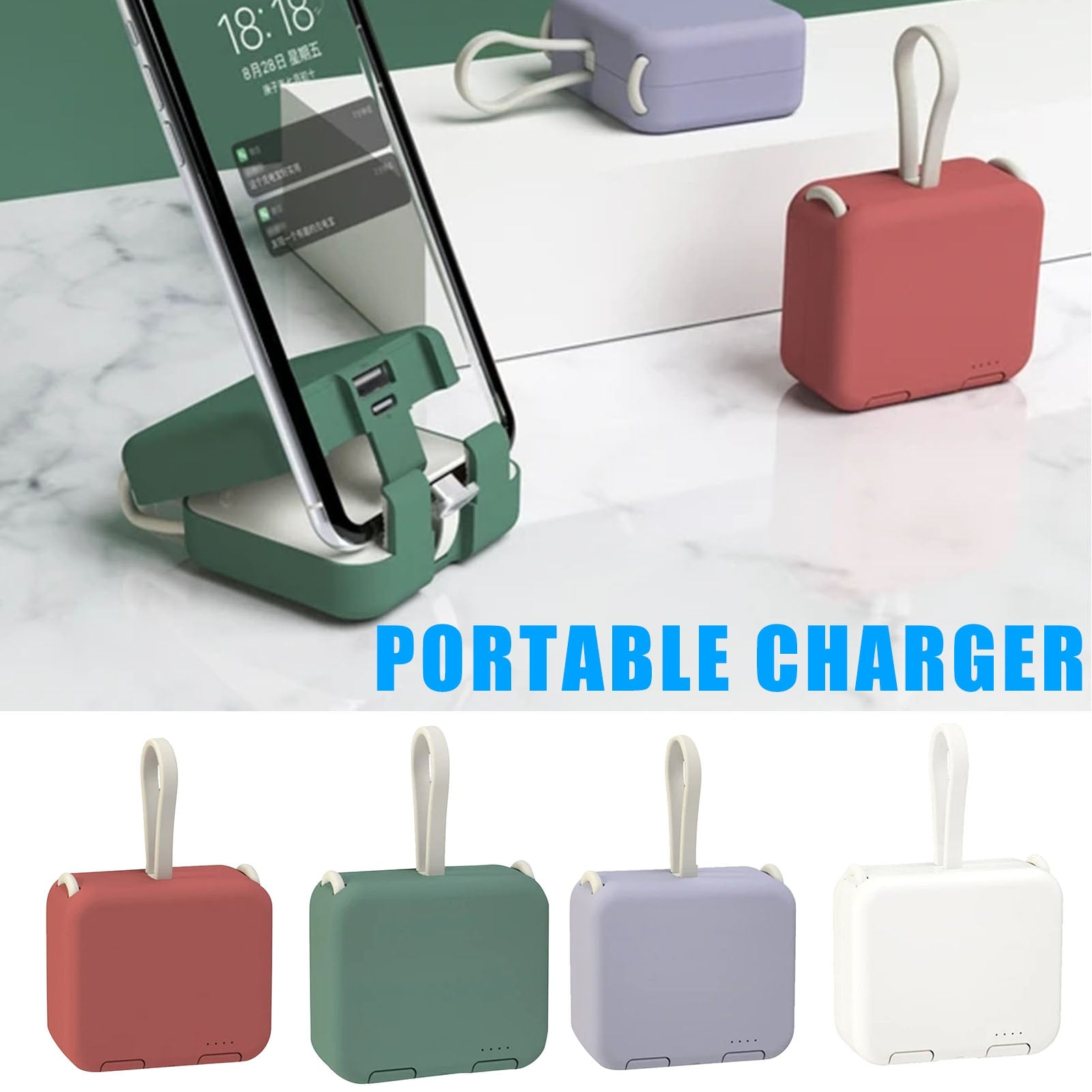 Handbag back clip power bank