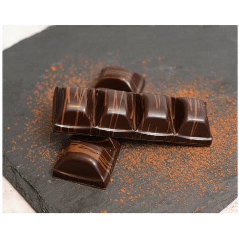 Caramel & salted Kampot pepper chocolate.