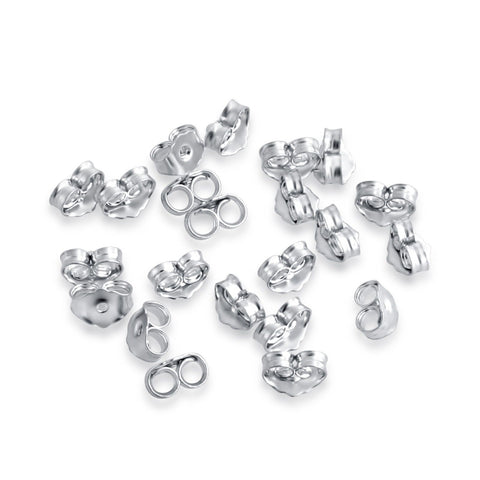 Sterling Silver Back Locks-  Jewelry Accessories