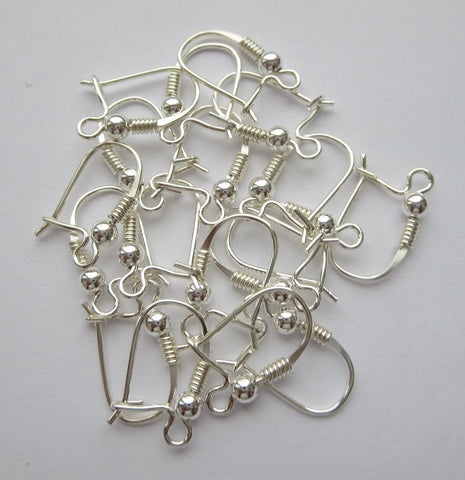 Solid Sterling Silver 925 Earring Hooks- Jewelry Accessories