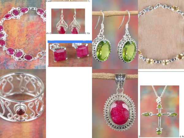 Pure 925 Sterling silver gemstone jewelry Sheela
