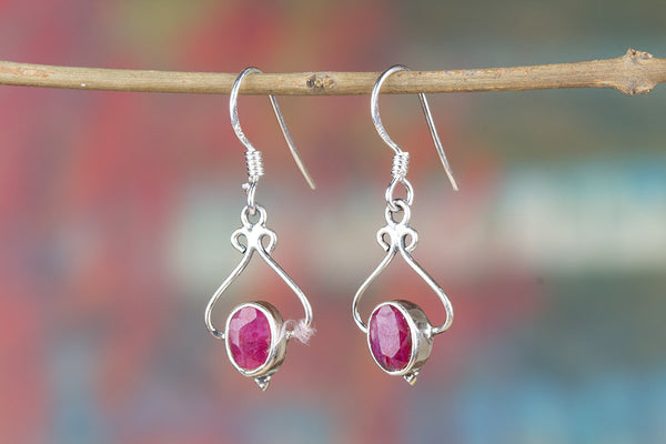 Ruby Earring, 925 Sterling Silver, Birthstone Earring, Wedding Gift, Statement Earring, Wedding Gift, Bridal Jewelry, Gift For Her
