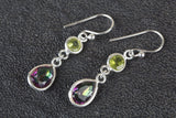 Multi-Stone Gemstone Sterling Silver Earring