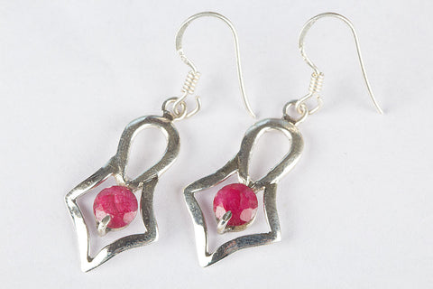 Beautiful Ruby Earrings Sterling Silver Drop Dangle Lever back Earrings Fine Jewelry Trends Round Ruby Earrings Gift