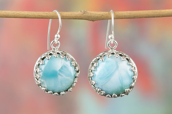 Larimar Earring 925 Silver Artisan Earring Alternative Earring Best Selling Earring Casual Earring Designer Earring Classic Elegance Earring Eye Catch Earring Attractive Earring Engagement Earring Gift Her