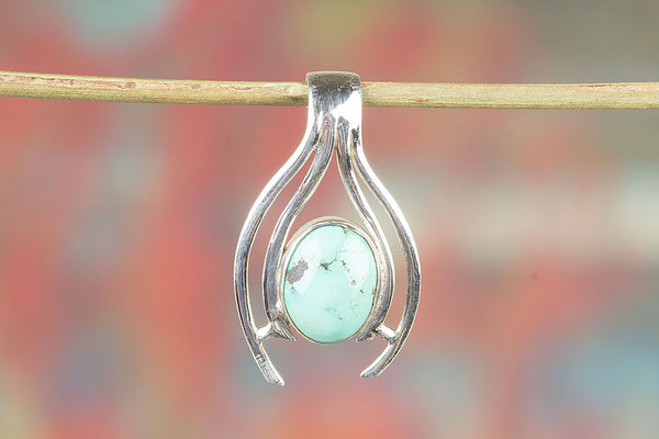 Awesome Handmade Natural Turquoise Silver Gemstone Pendant