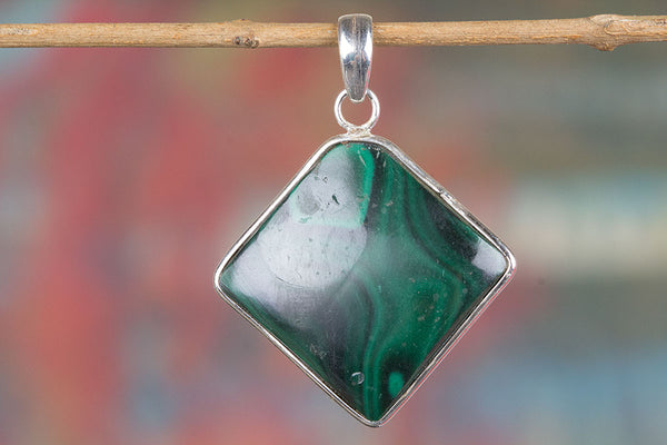 Natural Malachite Gemstone Pendant