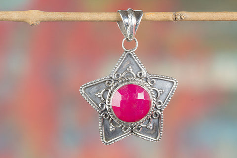 Amazing  Sterling Silver Pink Chalcedony Pendant