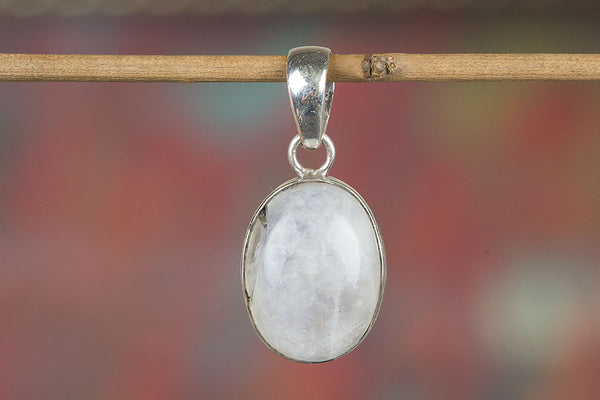 Amazing  Sterling Silver Rainbow Moonstone Pendant,