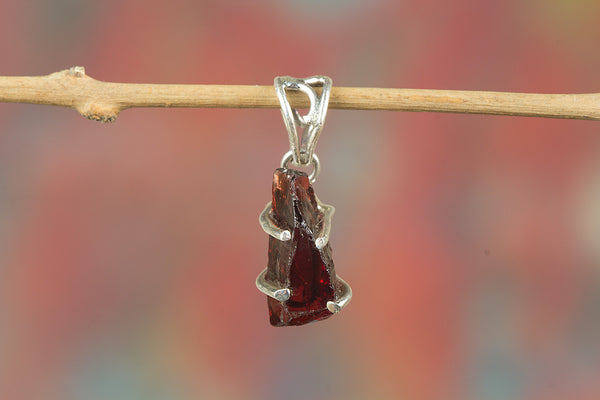 Faceted Garnet RoughGemstone Pendant