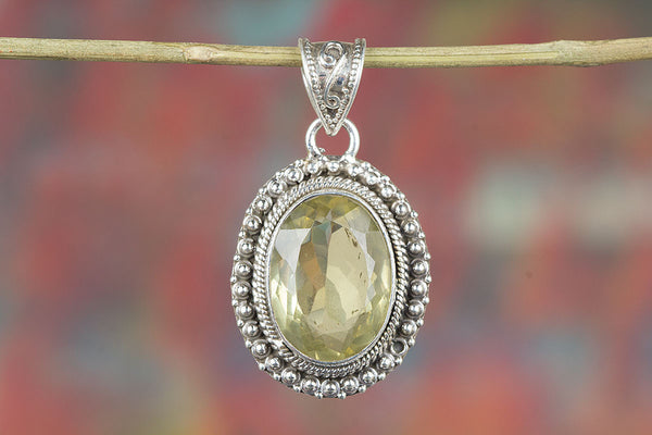 Lemon Topaz Gemeston 925 Silver Pendant