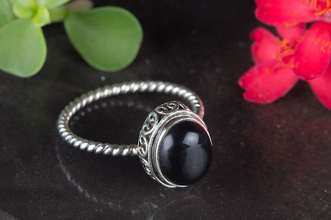 Black Onyx Ring 925 Silver Antique Gypsy Ring Trendy Ring Friendship Ring Rare Ring Inspirational Ring Charm Ring Bohemian Ring Victorian Ring Wedding Ring Gift Her
