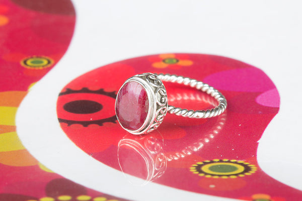 Ruby Ring, 925 Sterling Silver, Traditional Gift, Jewelry Of The Day, Mermaid Gift Her, Festival Fashion Jewelry, Wedding Ring, Gift Her