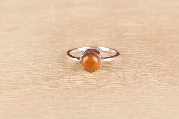 Beautiful Carnelian Gemstone Silver Ring