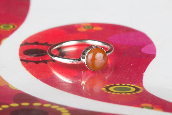 Beautiful Natural Carnelian Ring