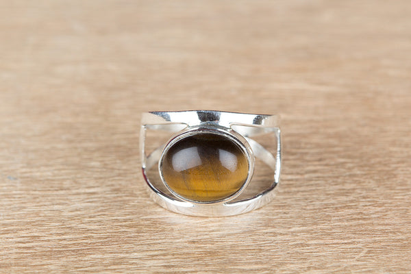 Tiger Eye Ring, 925 Silver, Petite Ring, Stylish Designer Ring, Bohemian Ring, Gypsy Ring, Eye Catch Ring, Attractive Ring, Statement Ring, Artisan Ring, Boho Band Ring, Inspirational Ring, Special Occasion Ring, Wedding Ring, Gift Her
