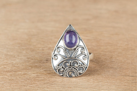 Wonderful Tanzanite Gemstone Sterling Silver Ring,
