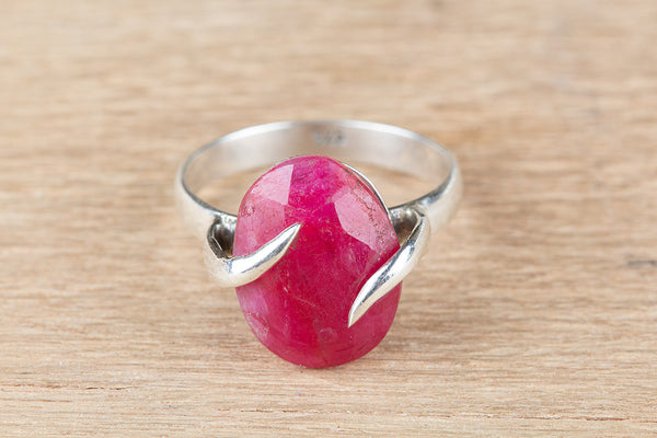 Ruby Ring, 925 Sterling Silver, Bridal Gift Ring, Religious Ring, Bohemian Ring, Victorian Ring, Alternative Ring, Gift Her