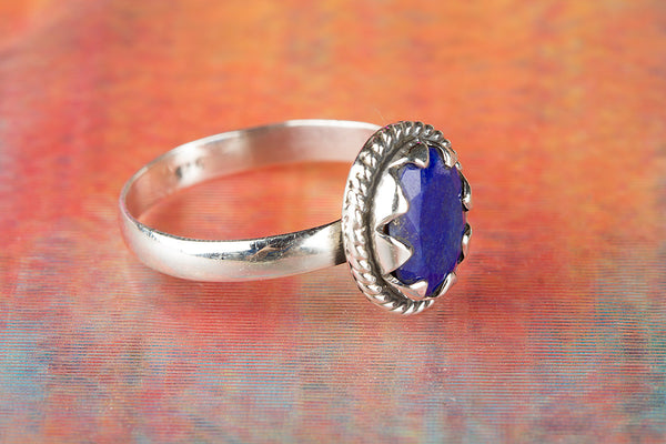 Wow Sapphire Gemstone Sterling Silver Ring