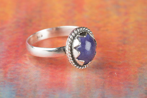 Wow Tanazanite Gemstone Sterling Silver Ring