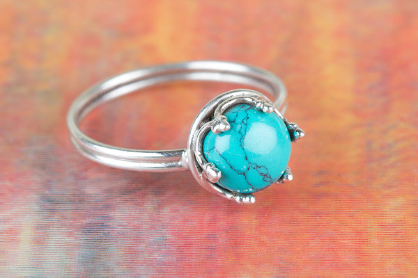 Turquoise Gemstone Silver Ring