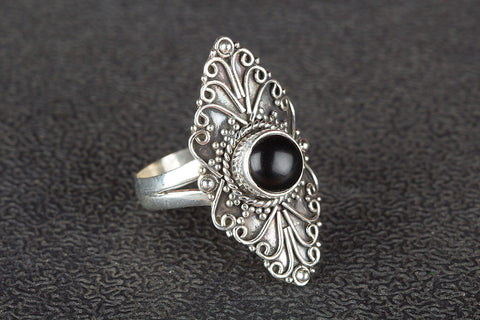 Black Onyx Ring 925 Silver Artisan Ring Traditional Ring Latest Design Ring Bohemian Ring Daily Wear Ring Attractive Ring Eye Catch Ring Relationship Ring Latest Ring Gift
