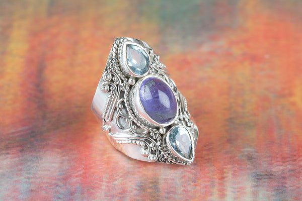 Tanzanite Gemstone Sterling Silver Ring