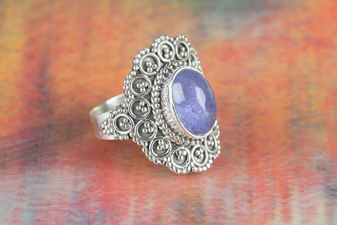 Wow Tanzanite Gemstone Silver Ring