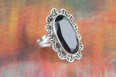 Black Onyx Ring 925 Silver Modern Designer Ring Occasion Ring Elegant Ring Artisan Jewelry Unique Ring Rare Ring Bridesmaid Ring Attract Ring Gypsy Ring Eye catch Ring Engagement Ring Gift Her
