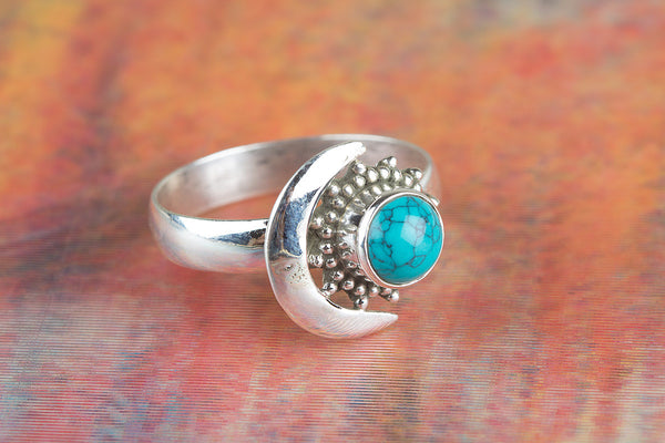 Wow Turquoise Gemstone Silver Ring