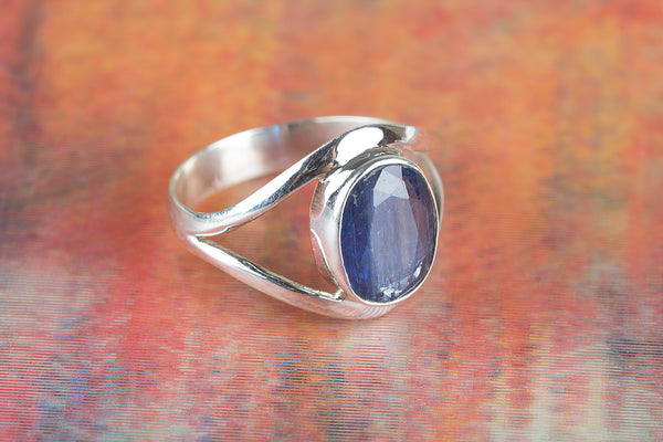 Precious Kyanite Gemstone Silver Ring