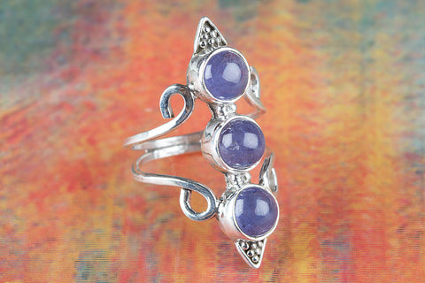 Wonderful Tanzanite Gemstone Silver Ring